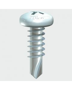 Pan Head S/Tek Drill Screw - BZP