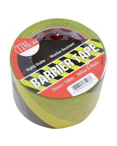 PE Barrier Tape -Yellow/Black