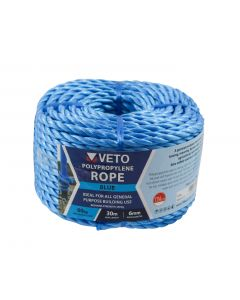 Blue Poly Rope Long - Coil