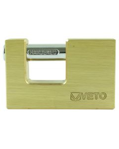Veto Rectangle Brass Padlock