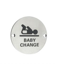 ZSS08SS Baby Change Symbol Satin Stainless